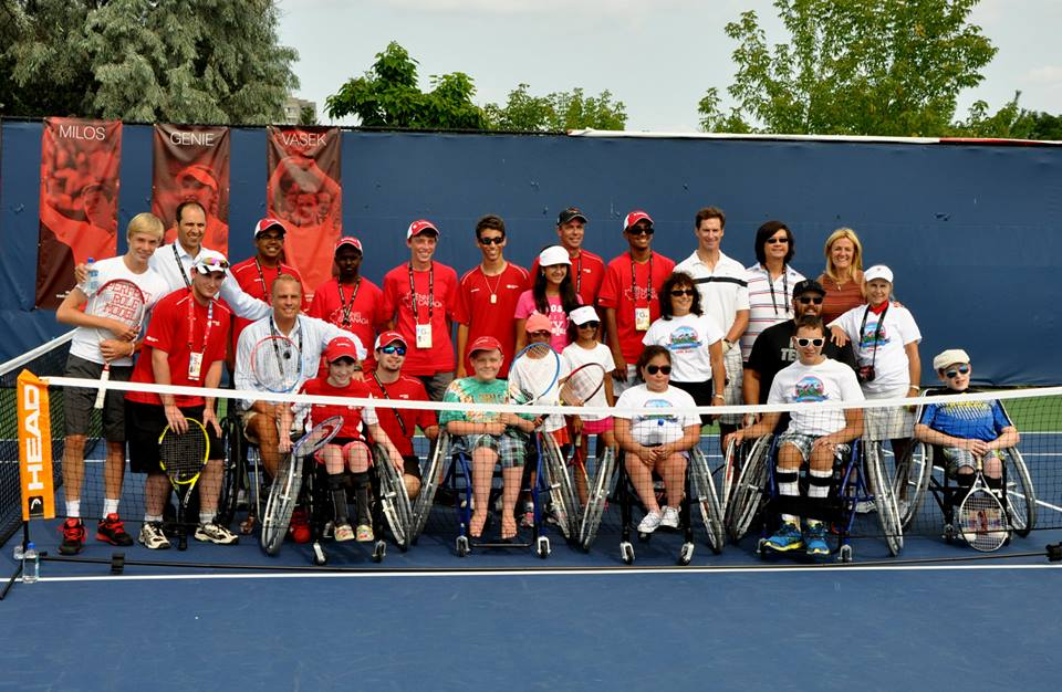 President of Tennis Canada Kelly Murumets visited Little Aces Wheelchair @ 2014 Rogers Cup