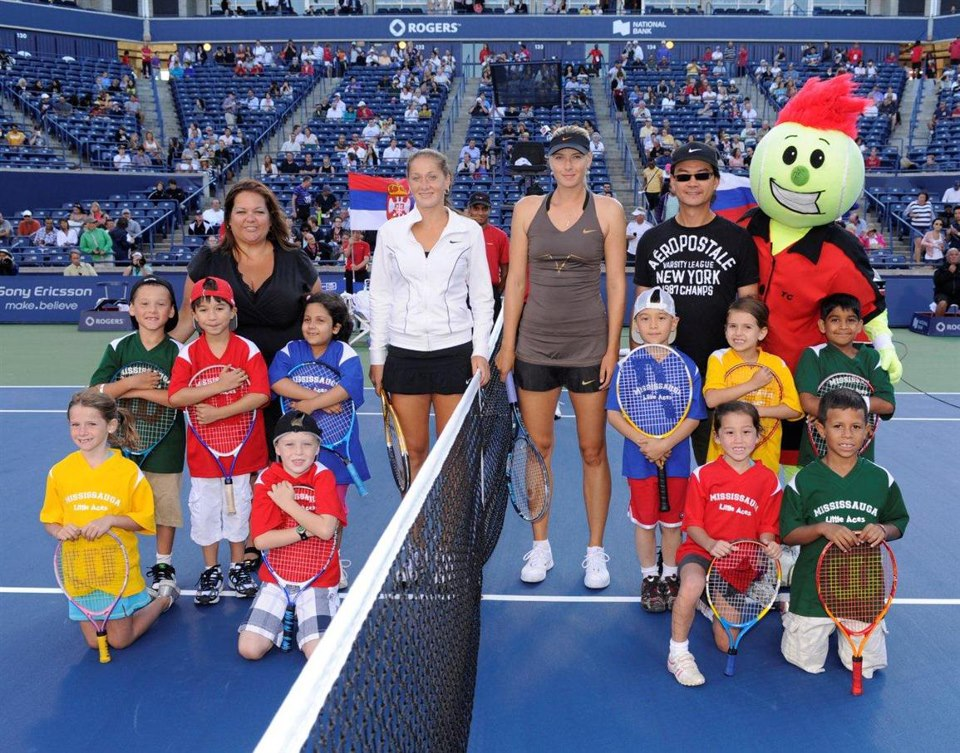 First Little Aces Rogers Cup with Maria Sharapova (Summer 2011)